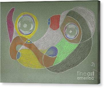 Canvas Print featuring the drawing Roley Poley Horizontal by Rod Ismay