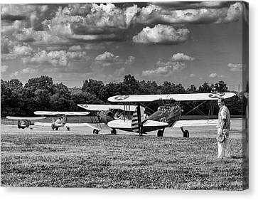 Canvas Print featuring the photograph Roll Out  For Take Off by Alan Raasch