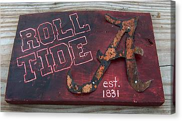 Roll Tide Alabama Canvas Print by Racquel Morgan