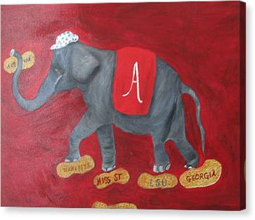 Roll Tide Canvas Print by Brenda Luczynski