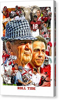 Bryant Canvas Print - Roll Tide by Mark Spears