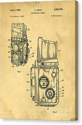 Rolleiflex Medium Format Twin Lens Reflex Tlr Patent Canvas Print by Edward Fielding