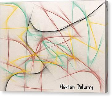 Roller Coaster Abstract Canvas Print by Marian Palucci-Lonzetta