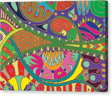 Roller Coaster Ride Canvas Print by Marta Podkul