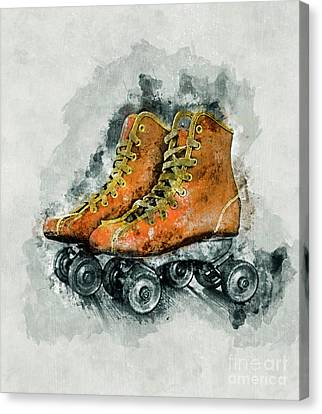 Rollerskate Canvas Print - Roller Skates by Ian Mitchell