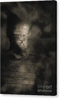 Rollie The Smoking Mummy Canvas Print