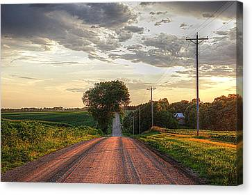 Rolling Down A Country Road Canvas Print by Karen McKenzie McAdoo