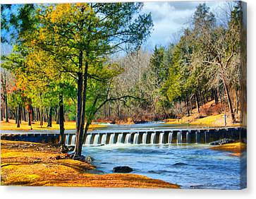 Rolling Down The River Canvas Print by Rick Friedle