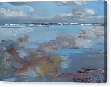 Rolling Fog Canvas Print by Trina Teele