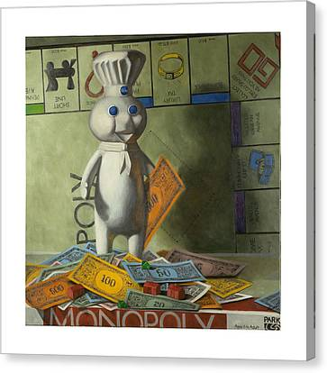 Pillsbury Canvas Print - Rolling In Dough by Judy Sherman