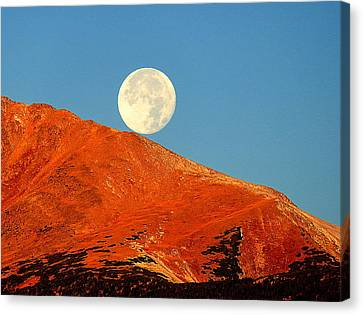 Canvas Print featuring the photograph Rolling Moon by Karen Shackles
