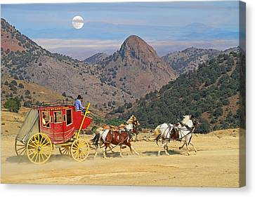 Rolling  Rolling  Rolling Canvas Print by Donna Kennedy