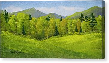 Rolling Spring Pastures  Canvas Print by Frank Wilson