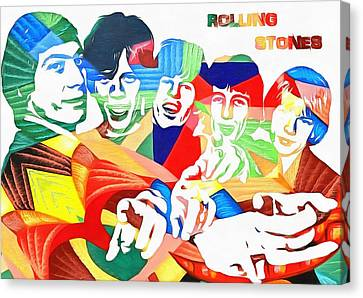 Rolling Stones Colorful Abstract Canvas Print by Dan Sproul