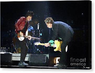 Keith Richards Canvas Print - Rolling Stones Ron Wood Keith Richards Painting by Concert Photos