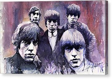 Rolling Stones Canvas Print - Rolling Stones  by Yuriy  Shevchuk