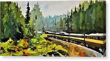 Rolling Thru The North Country Canvas Print by Spencer Meagher