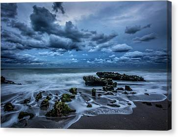 Canvas Print featuring the photograph Rolling Thunder by Debra and Dave Vanderlaan