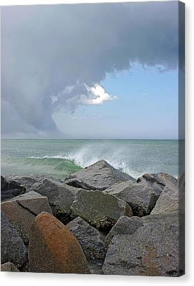Opposing Forces Canvas Print - Rolling Thunder by Thomas Lovelace