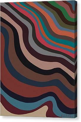 Rolling Waves Canvas Print by Sarah Gillard