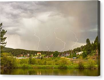 Rollinsville Colorado Lightning Thunderstorm Canvas Print by James BO  Insogna