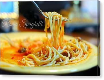 Roma Spaghetti Canvas Print