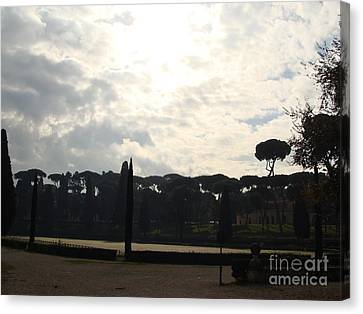 Roma, Villa Borghese Canvas Print