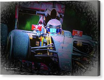 Romain Grosjean 2015 Canvas Print by Marvin Spates