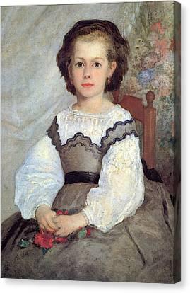 Romaine Lascaux Canvas Print by Pierre Auguste Renoir