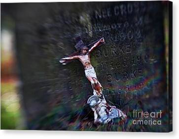 Roman And Crucifix Canvas Print by Susan Isakson