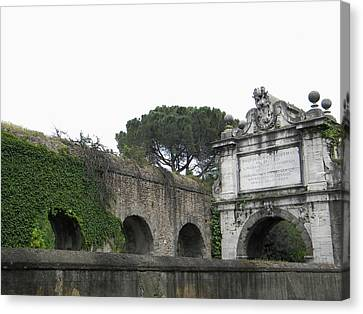 Canvas Print featuring the photograph Roman Aqueduct by Manuela Constantin