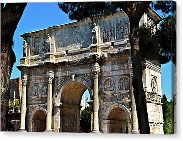 Canvas Print featuring the photograph Roman Arch by Harry Spitz