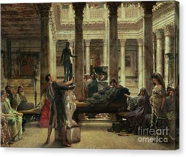 Roman Art Lover Canvas Print by Sir Lawrence Alma-Tadema