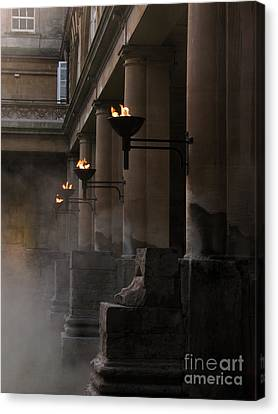 Roman Baths Canvas Print by Amanda Barcon