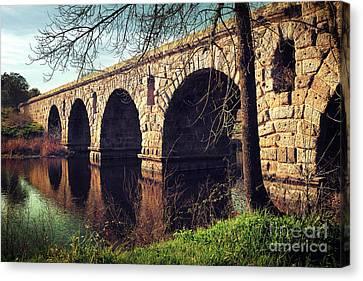Roman Bridge Canvas Print by Carlos Caetano