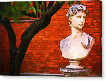 Roman Bust, Loyola University Chicago Canvas Print by Vincent Monozlay