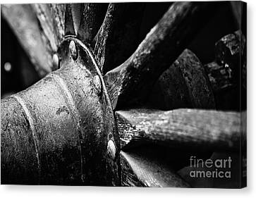 Roman Candy Cart Wheel - Bw Canvas Print