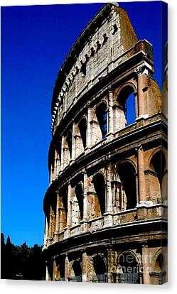Roman Coliseum By Day Canvas Print by Alberta Brown Buller