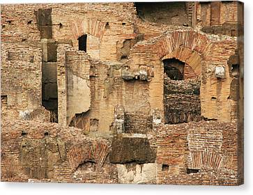 Canvas Print featuring the photograph Roman Colosseum by Silvia Bruno