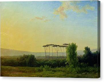Roman Countryside Canvas Print by Pierre Henri de Valenciennes