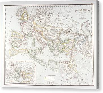 Roman Empire At The Time Of Augustus Canvas Print by Fototeca Storica Nazionale