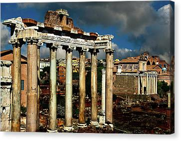 Canvas Print featuring the photograph Roman Forum by Harry Spitz