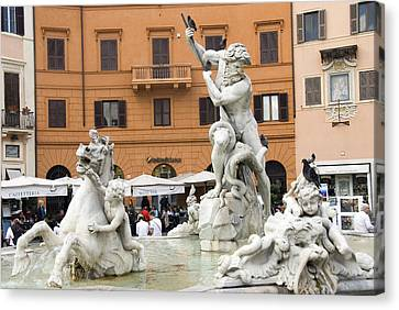 Roman Fountain Canvas Print by Charles  Ridgway