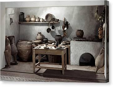 Roman Kitchen, 100 A.d Canvas Print by Granger
