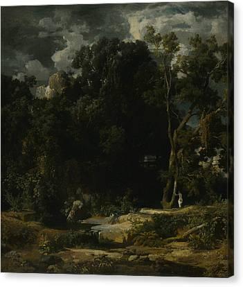 Roman Landscape Canvas Print by Arnold Bocklin