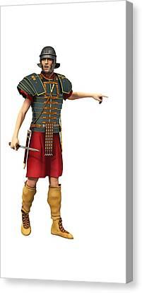 Roman Legionary 1st Ad T-shirt Canvas Print