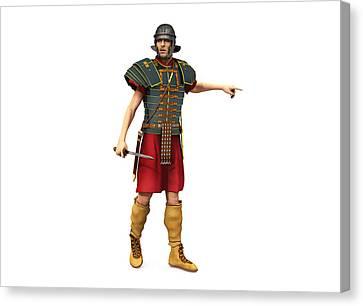 Roman Legionary 1st Century Ad Canvas Print