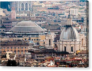 Roman Rooftops Canvas Print by Andy Smy
