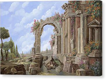 Roman Ruins Canvas Print by Guido Borelli