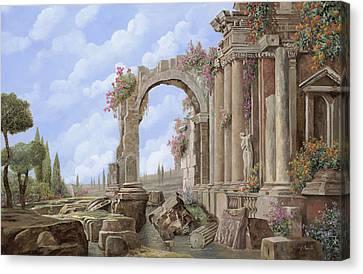 Empire Canvas Print - Roman Ruins by Guido Borelli